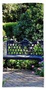 Cozy Southern Garden Bench Beach Towel by Carol Groenen