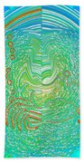 Crab In Plastic Wrap Abstract Beach Towel
