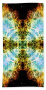 Crab Nebula V Beach Towel
