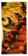 Crab Vs. Lobster Beach Towel