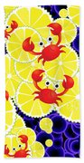 Crabs On Lemon Beach Towel