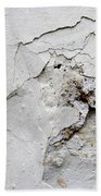Cracked Stucco - Grunge Background Beach Towel