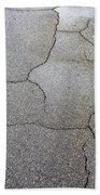 Cracked Tarmac Beach Towel