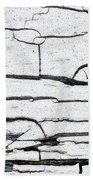 Cracked Wood Pattern Beach Towel