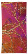 Crackling Branches Beach Towel