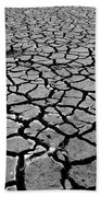Cracks For Miles Black And White Beach Towel