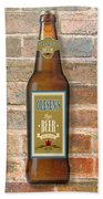 Craft Beer Collection On Brick Beach Towel
