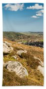 Crags Over Rothbury Beach Towel