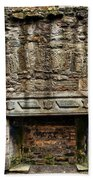 Craigsmillar Castle Fireplace Beach Towel