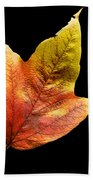 Cranberry Tree Leaf Isolated On White Beach Towel