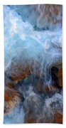 Crashing Falls On Rocks Below Beach Towel