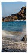 Crashing Of The Waves Beach Towel