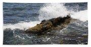 Crashing Waves - Rhode Island Beach Towel