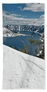 Crater Lake And Wizard Island In June Beach Towel