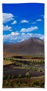 Craters Of The Moon Beach Towel by Robert Bales