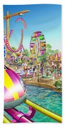 Crazy Coaster Beach Towel by Adrian Chesterman