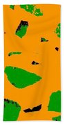 Creamsicle Orange Abstract Beach Towel
