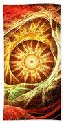 Creation Of Sun Beach Towel by Lourry Legarde