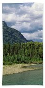 Creek Along Mountains, Mcdonald Creek Beach Towel