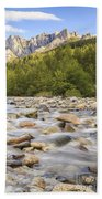 Creek And Castle Crags Beach Towel