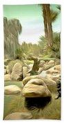 Creek At Jackalope Ranch Palm Springs Beach Towel