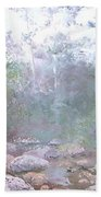 Creek In The Forest Beach Towel