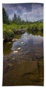 Creek In Vermont Beach Towel