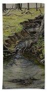 Creek  Beach Towel by Janet Felts