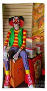 Creepy Clown Beach Towel
