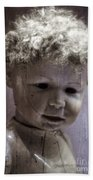 Creepy Old Doll Beach Towel