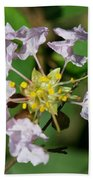 Crepe Myrtle Blossom Ring Beach Towel