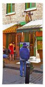 Crepes Et Fondues In Old Montreal-qc Beach Towel