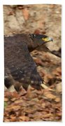 Crested Serpent Eagle Beach Towel