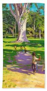 Cricket Match St George Granada Beach Towel by Andrew Macara