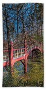 Crim Dell Bridge Spring Beach Towel