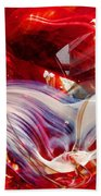 Crimson Orb Beach Towel
