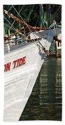 Crimson Tide Bow Beach Towel