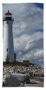 Crisp Point Lighthouse 16 Beach Towel