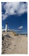 Crisp Point Lighthouse 18 Beach Towel