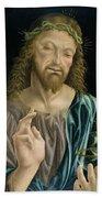 Cristo Salvator Mundi, C.1490-94 Beach Towel