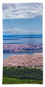 Croatian Islands Aerial View From Velebit Beach Towel