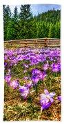 Crocus Flower Valley Beach Towel