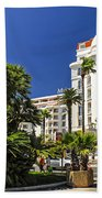 Croisette Promenade In Cannes Beach Towel by Elena Elisseeva