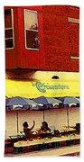 Croissanterie Figaro Parisian Bistro Sidewalk Cafe C Spandau Montreal Premier City Scene Artist Beach Towel