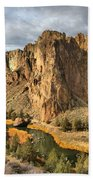 Crooked River Towers Beach Towel