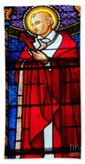 Cross And Red Robe Beach Towel