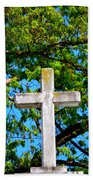 Cross At The Monastery Of The Holy Spirit Beach Towel