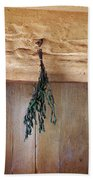 Crossbeam With Herbs Drying Beach Towel