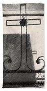 Crosses Voided Wrought Iron _ Nola Beach Towel