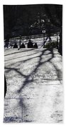 Crossing Over - Central Park - Nyc Beach Towel